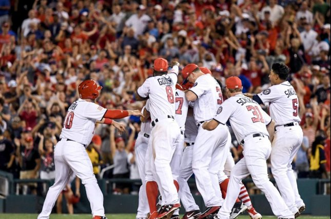 The Washington Nationals beat the New York Mets 3-2 with a walk-off single in the last of the ninth by reserve Ryan Raburn. Photo courtesy of Washington Nationals/Twitter