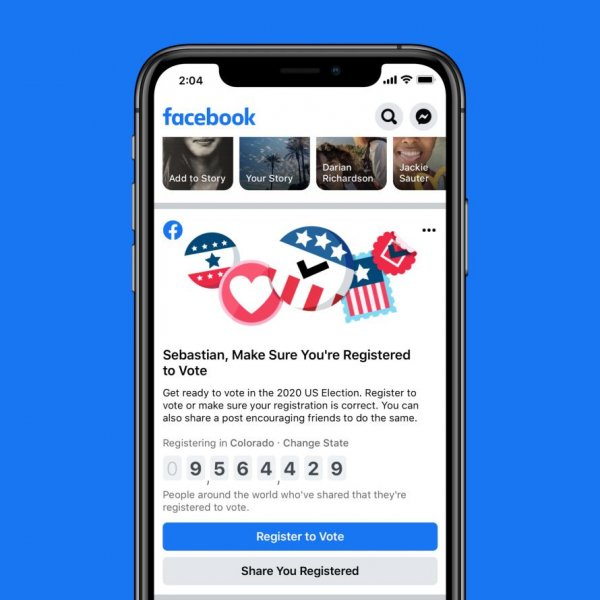 Facebook is launching a voter registration drive Friday. Photo courtesy of Facebook