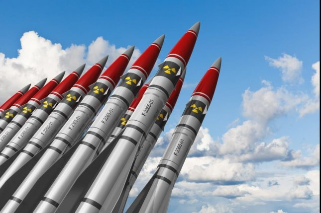 According to experts, the United States has nearly 5,000 nuclear warheads in its defense arsenal -- some mounted to ballistic missiles and others available to be dropped over targets by a bomber aircraft. Photo by Oleksiy Mark/ShutterStock