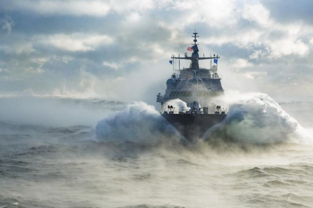 The U. S. Navy's newest littoral combat ship, known as LCS 19 but to be designated USS St. Louis, has completed its acceptance trials on Lake Michigan. Photo courtesy of Lockheed Martin