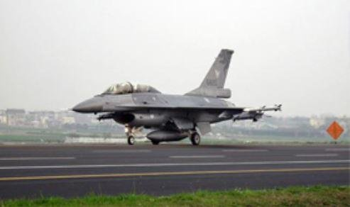 An F-16 fighter plane of Taiwan takes off. A senior U.S. official told an audience in Taipei on Tuesday that Taiwan must dramatically increase its defense budget to counter China. Photo courtesy of Republic of China Defense Ministry