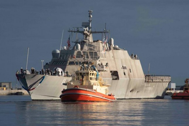 The littoral combat ship USS Sioux City returned to Naval Station Mayport, Fla., after exercises, humanitarian efforts and drug interdictions in the Caribbean Sea and Pacific Ocean. Photo courtesy of U.S. Navy