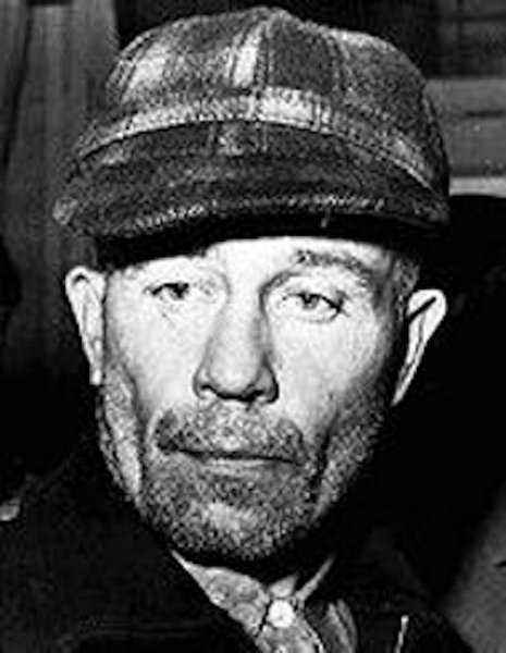 On November 16, 1957, Ed Gein murdered his last victim, Bernice Worden. When police searched his house, they found 10 human skulls and a human heart in a pot on the stove. File Photo courtesy Wikimedia