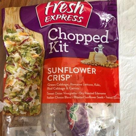The FDA has recalled Fresh Express's Sunflower Crisp Chopped Salad Kits due to suspected E. coli contamination, which has been linked to eight hospitalizations. Photo courtesy of FDA