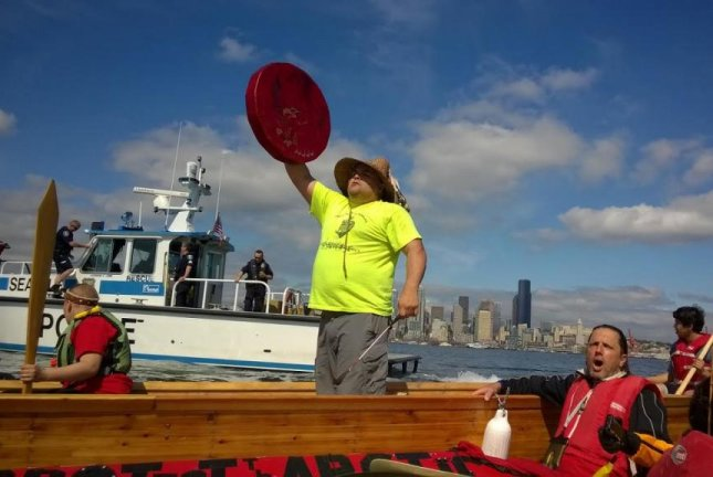 Seattle organizers plan day of civil disobedience against Shell's presence in the city. Shell plans send drillships from Seattle to arctic waters off the coast of Alaska. Photo courtesy of Emily Johnston/350 Seattle