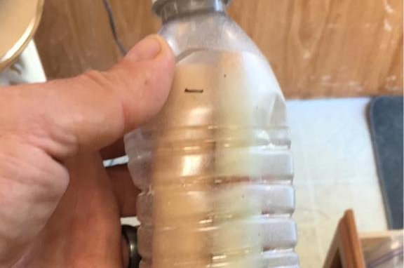 British Columbia man Brad Crocker is attempting to find the author of a message in a bottle he found floating in Osoyoos Lake. Photo courtesy of Brad Crocker