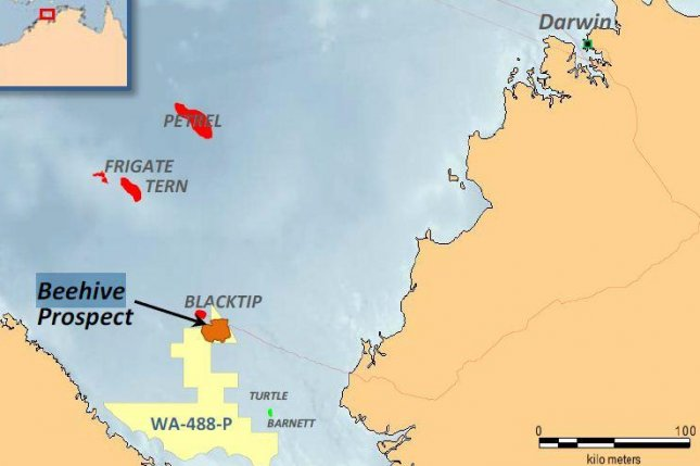 Australian energy company Santos and French supermajor Total could be wading into a major oil basin off the coast of Australia. Map courtesy of Melbana Energy Ltd.