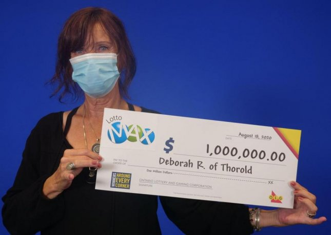 Deborah Rose, 64, of Thorold, Ontario, won a lottery jackpot of more than $750,000 using a set of lucky numbers that came to her in a dream. Photo courtesy of the Ontario Lottery and Gaming Corp.