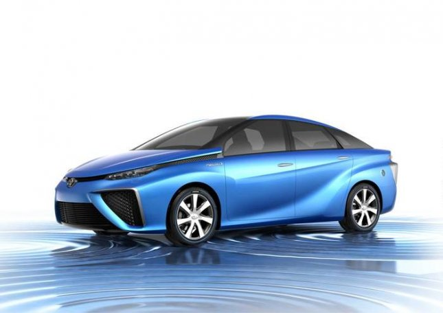 The Toyota FCV Concept, Toyota's next generation fuel-cell vehicle, is expected to go into production in 2015. The hydrogen-fueled four-seater will have a range of 310 miles with zero emissions. (Photo Courtesy of Toyota Motor Sales U.S.A., Inc.)