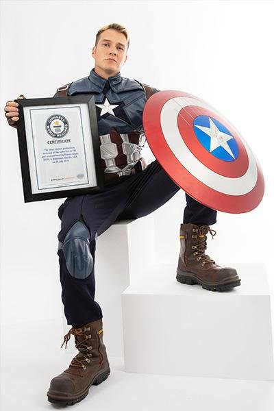 Romiro Alanis of Riverview, Fla., broke a Guinness World Record by going to see Avengers: Endgame in movie theaters 191 times. Photo courtesy of Guinness World Records