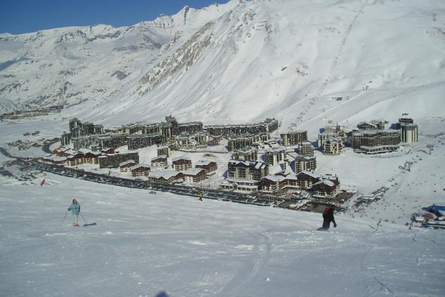 An avalanche covered a family slope at the Tignes resort in the French Alps on Tuesday. No one was injured. File Photo by Tonkie/Wikipedia