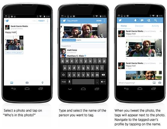 The new features will be available to users of Twitter's iPhone and Android apps. (Credit:Twitter)