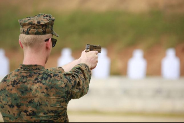 The U.S. Marine Corps officially began the rollout of its new M18 Modular Handgun, replacing the Beretta M9 pistol, on Wednesday. Photo courtesy of U.S. Marine Corps