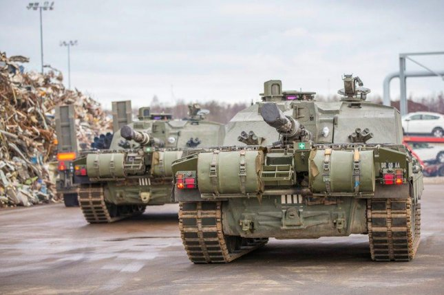 Armored military vehicles have been deployed to support NATO's mission to counter Russian aggression. Photo by the U.K. Ministry of Defense