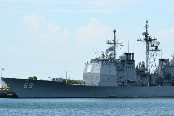 BAE Systems has received a $175 million contract for modernization work on the USS Vicksburg, shown here in 2015 at Mayport, Fla. Photo by Victoria Einbinder/U.S. Navy