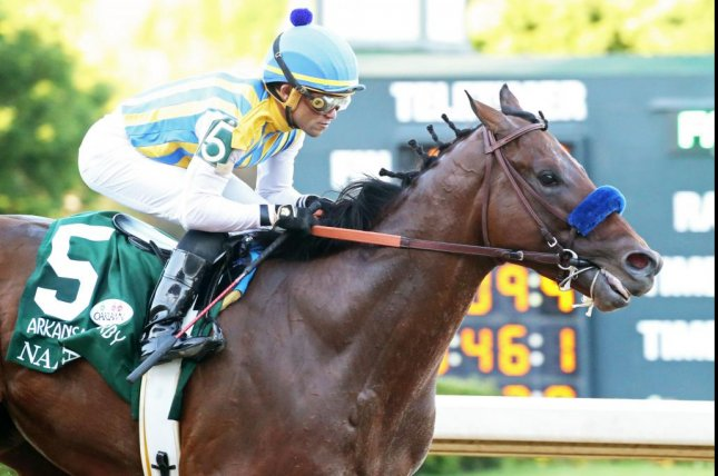 Nadal wins the second division of Saturday's Arkansas Derby to move to the top of the points standings for the Sept. 5 Kentucky Derby. Photo courtesy of  Oaklawn Park