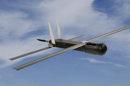 Raytheon's expendable, tube-launched Coyote unmanned aerial vehicle. Photo courtesy Raytheon