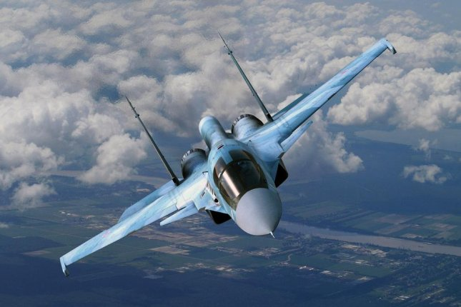 Russia's military has deployed Su-34 strike fighters to its Eastern Military District after pilots trained in air navigation and horizontal bombing missions. File Photo by poter.simon/Flickr