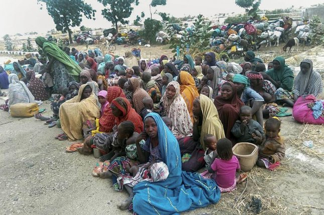 Amnesty International says members of the Nigerian military have routinely raped women in satellite camps set up in response to the militant group Boko Haram. The group kidnapped the individuals photographed here, who were later rescued by the Nigerian Army. File Photo by EPA-EFE/Deji Yake