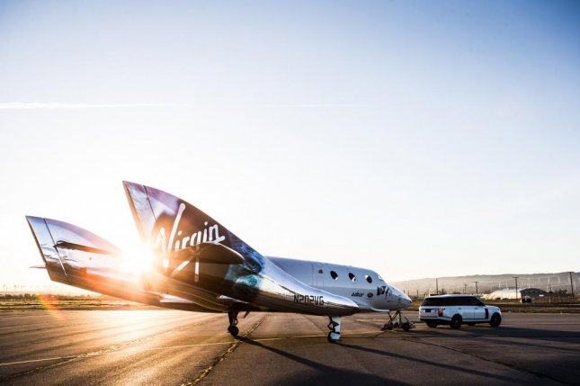 Virgin Galactic unveiled its new VSS Unity spacecraft at a ceremony at the Mojave Air and Space Port in California on Friday. The spacecraft is a replacement for the SpaceShip two model that crashed during a test flight in November 2014.