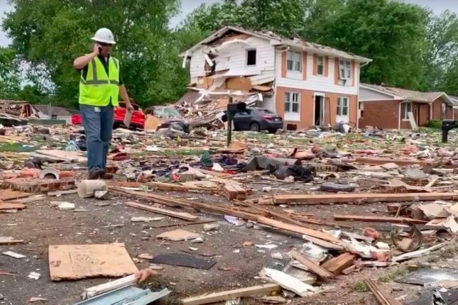 One person died and two people were injured in a house explosion in Indiana early Sunday morning, fire authorities said. Photo courtesy Jeffersonville Fire Department
