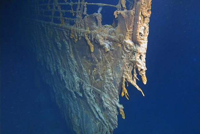 The dive teams used 4K video cameras to record the Titanic wreckage for a future documentary. Photo courtesy of Atlantic Productions