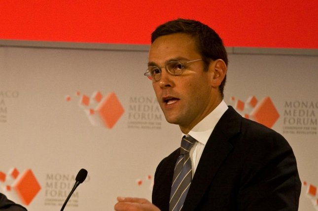 James Murdoch resigned Friday from his role in his family's media empire. File Photo by NRKbeta/Wikimedia Commons