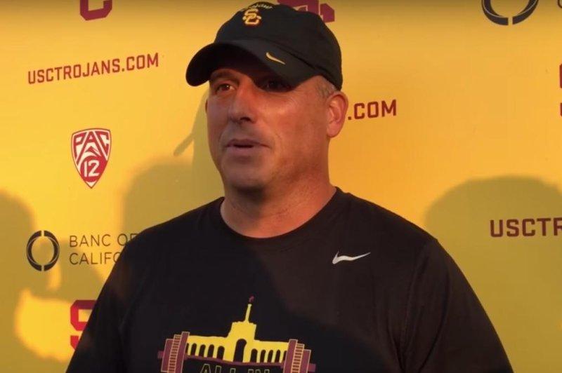 USC Football Coach Clay Helton. (YouTube)