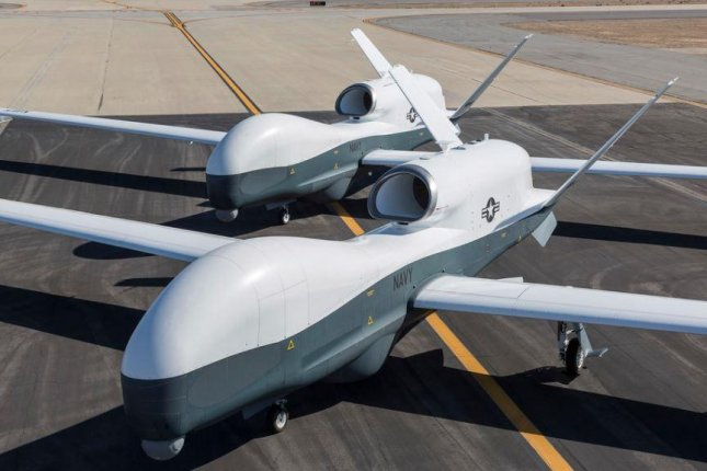 MQ-4C Triton drones of the U.S. Navy will be deployed from Guam to Japan, the United States and Japan announced. Photo courtesy of U.S. Navy