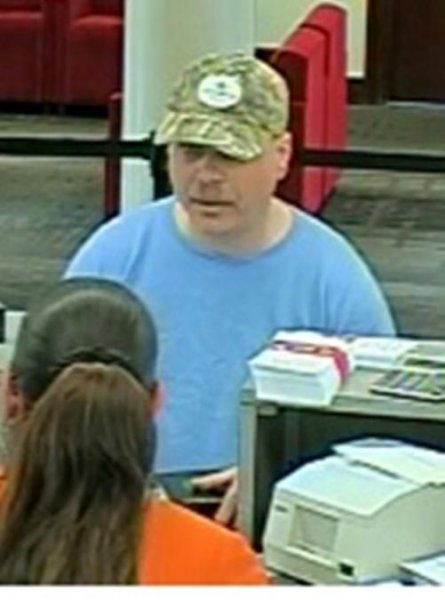 This man robbed a Bank of America in Nashville Friday and dropped a Bible on his way out. Photo courtesy of the Metropolitan Nashville Police Department