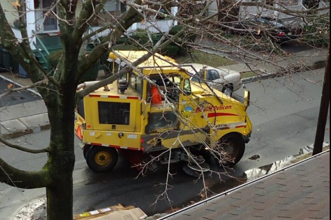 Man has brush with the law after street sweeper theft
