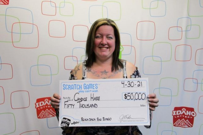 Candice Hare, of Clarkston, Wash., won $50,000 from an Idaho Lottery scratch-off ticket just two weeks after winning $200,000 from a ticket she bought from the same store. Photo courtesy of the Idaho Lottery