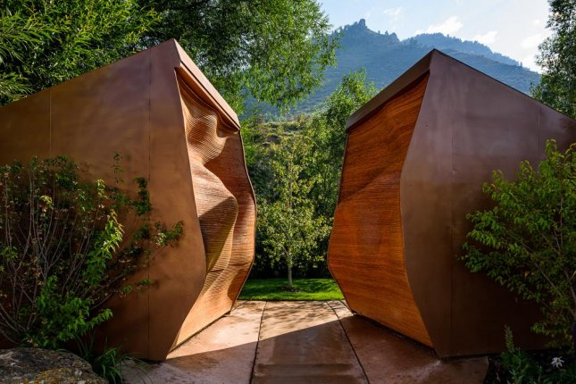 A pair of outhouses, designed to look like a passage into a mine, in the town of Minturn beat out nine other finalists to be named the winner of Cintas' America's Best Restroom Awards. Photo By Cintas