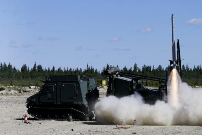 Sweden successfully tested its new RBS 98 ground-to-air defense missile this week. Photo by Anders Aberg/Swedish Defense Material Administration