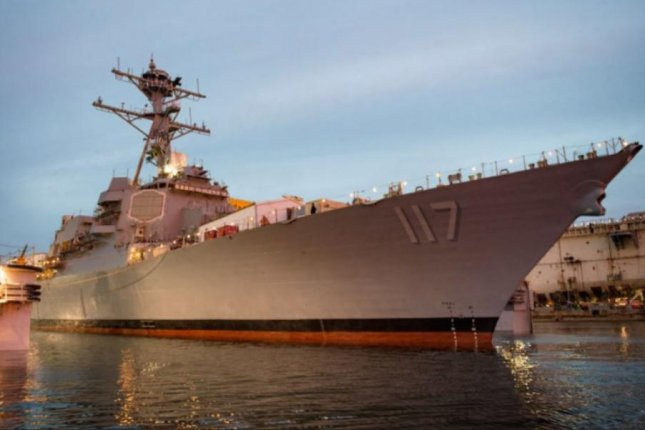 The Arleigh Burke-class guided missile destroyer Paul Ignatius, known as DGG 117, was built at Huntington Ingalls Industries' shipyard in Pascagoula, Miss. The vessel was officially delivered to the Navy on Friday. Photo courtesy of Huntington Ingalls