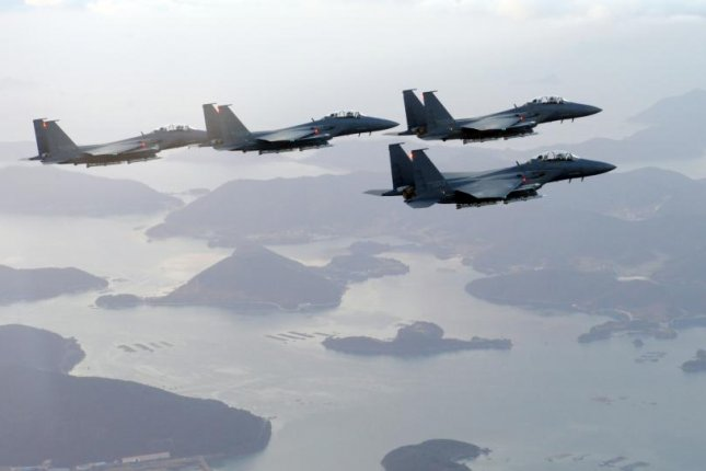 South Korea is holding independent air force exercises after agreeing to suspend joint training with the United States. File Photo by Yonhap