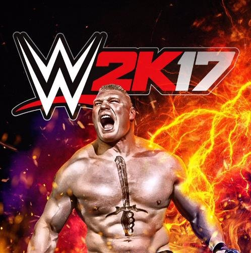 WWE 2K17 cover star Brock Lesnar has called out retired Superstar Bill Goldberg on social media. Photo courtesy of Lesnar/Twitter