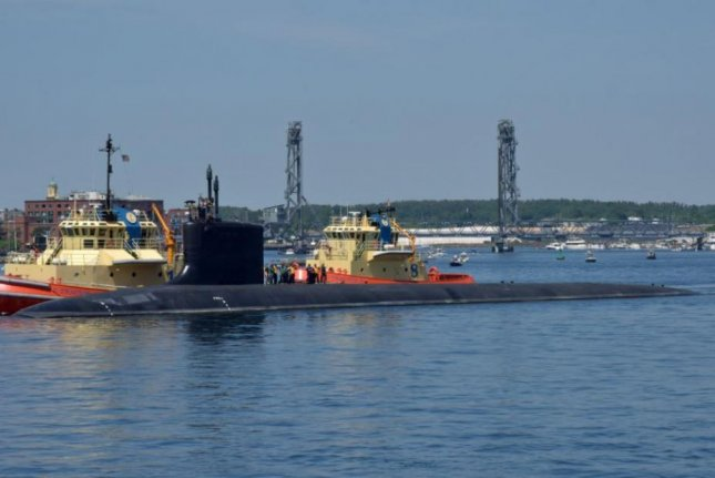 The Virginia-class submarine USS California left the Portsmouth Naval Shipyard in Kittery, Maine, this week after a planned maintenance period accomplished in a record-setting time frame. Photo by Jim Cleveland/U.S. Naval Sea Systems Command