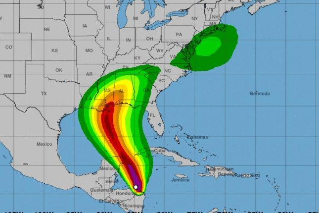 Tropical Storm Nate is the latest storm to pose a threat to the U.S. energy sector. Nate is expected to strengthen to a hurricane by the time it hits Louisiana early Sunday. Map courtesy of the U.S. National Hurricane Center