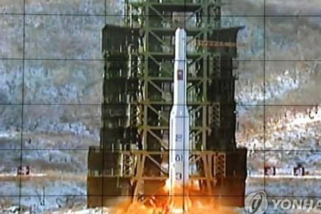 North Korea launching the Unha-3 in 2012. Pyongyang said its space development program is for peaceful purposes. File photo by Yonhap