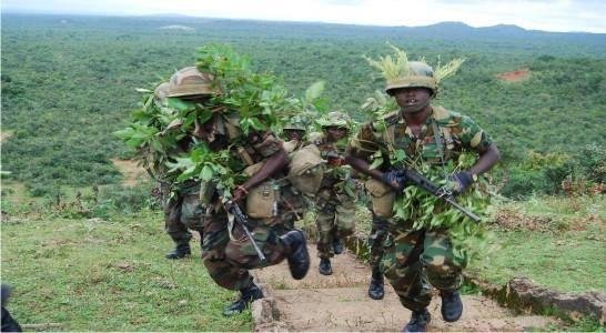 The Nigerian army, seen here in combat maneuvers, reported that 800 Boko Haram insurgents surrendered and nearly 12,000 of its captives have been freed in recent weeks. Photo courtesy of Nigerian Army/Facebook