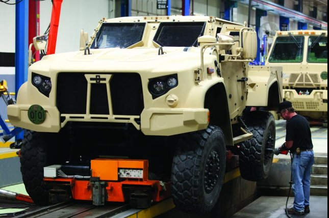Oshkosh Defense's Joint Light Tactical Vehicle, slated to replace the U.S. military's aging Humvee fleet, is on display this week at the Special Operations Forces Exhibition in Amman, Jordan. Photo Courtesy Oshkosh Defense