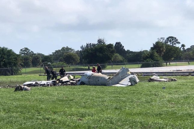 TheGrumman OV-1 Mohawk crashed as it approached Witham Field for landing. Photo courtesy of the Martin County Sheriff's Office