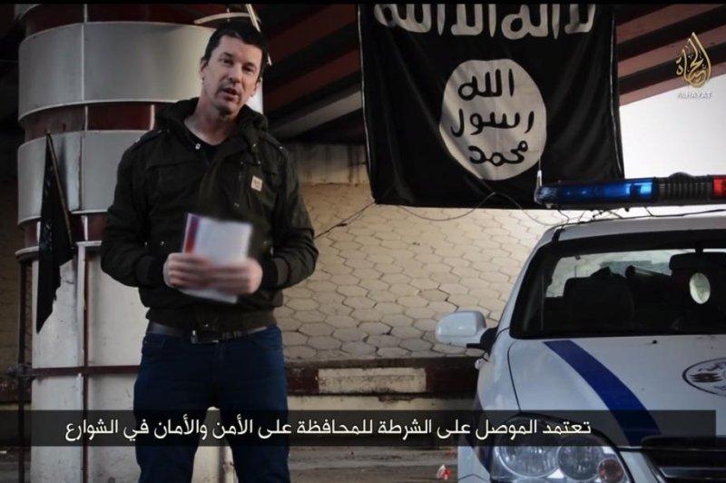 John Cantlie in Islamic State video released Jan. 3, 2015. Screenshot from YouTube.