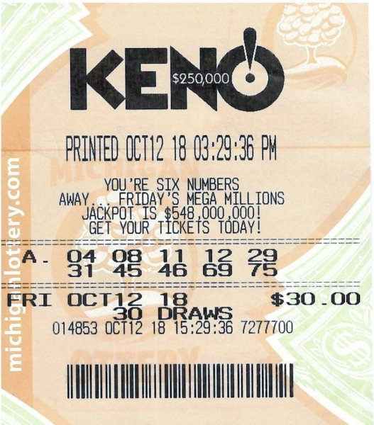 A Michigan woman won a $250,000 KENO! jackpot from the Michigan Lottery eight years after some of the same numbers earned her a $252,074 windfall. Photo courtesy of the Michigan Lottery