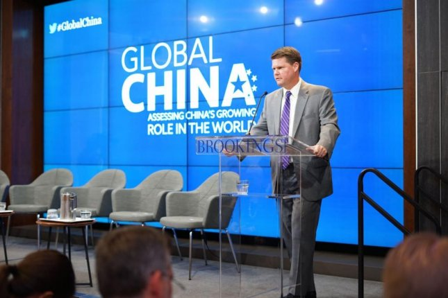 Assistant Secretary of Defense Randall Schriver says in a Brookings Institution speech that China's growing global influence must be taken seriously. Photo by Joe Snell/Medill News Service