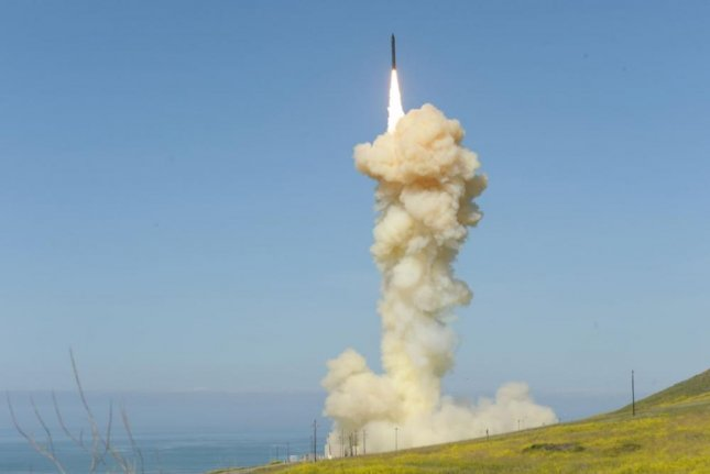 A Ground-based Interceptor missile is launched from Vandenburg Air Force Base, Calif., Boeing Co. announced on Wednesday that it submitted a proposal to build the Next Generation Interceptor missile. Photo courtesy of U.S. Missile Defense Agency