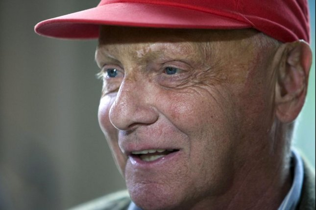 Former Formula One great Niki Lauda died Monday at 70. Photo by Ed Oudenaarden/EPA-EFE