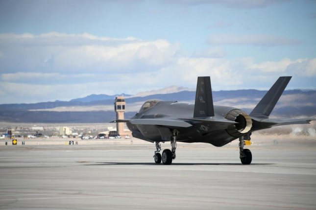 An F-35A Lightning II fighter jet assigned to the 388th Fighter Wing's 4th Fighter Squadron taxis during Red Flag 19-1 at Nelllis Air Force Base, Nev., on Feb. 6. Photo by R. Nial Bradshaw/U.S. Air Force