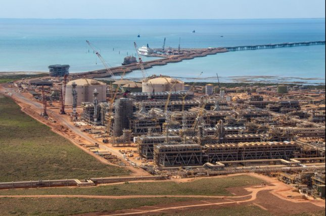 Chevron preparing to deliver its first exports of liquefied natural gas from its Gorgon project in Australia. Photo courtesy of Chevron